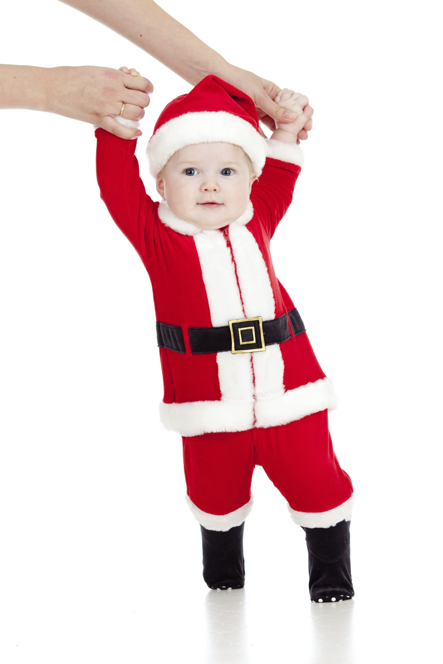 90c769d0dc75 first steps of funny Santa claus baby
